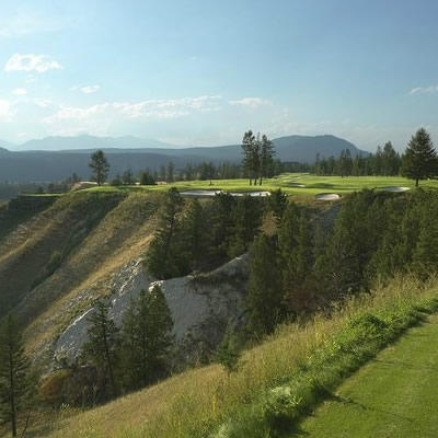 View of Radium Golf Course, with photo of Nawaz Hirji.