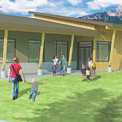 Cover Architectural Collaborative Inc. of Nelson, B.C., produced this concept rendering of the proposed District office for Elkford, B.C.