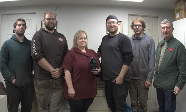 Team members at Elk Valley Precision.