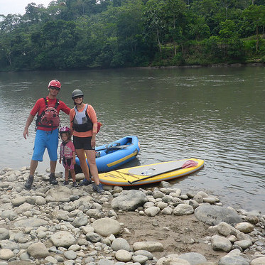 The Ryman family enjoys a kayak/paddleboard adventure.