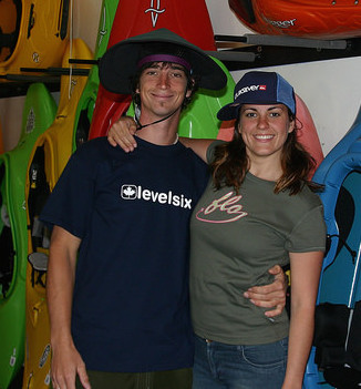 Chris and Andrea Ryman at their shop when it first opened in 2006