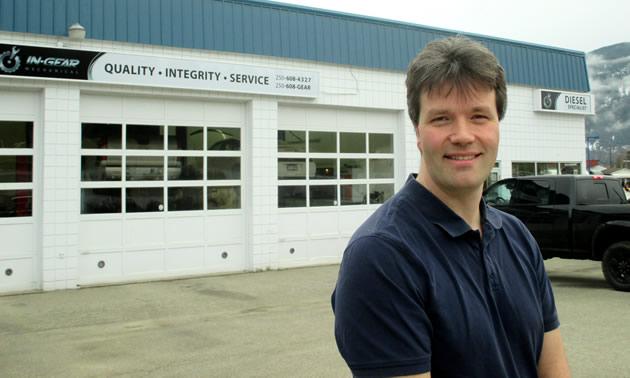 Eric Van Hoogevest owns and operates In Gear Mechanical in Castlegar, B.C.