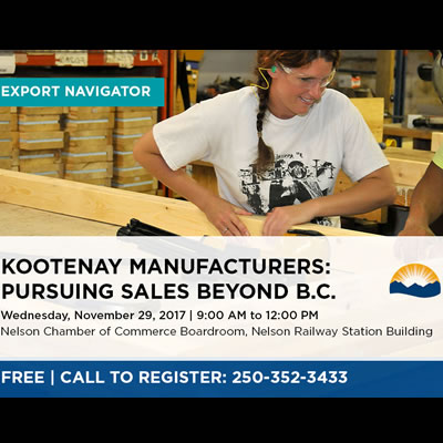 Ad for Export Advisor workshop.