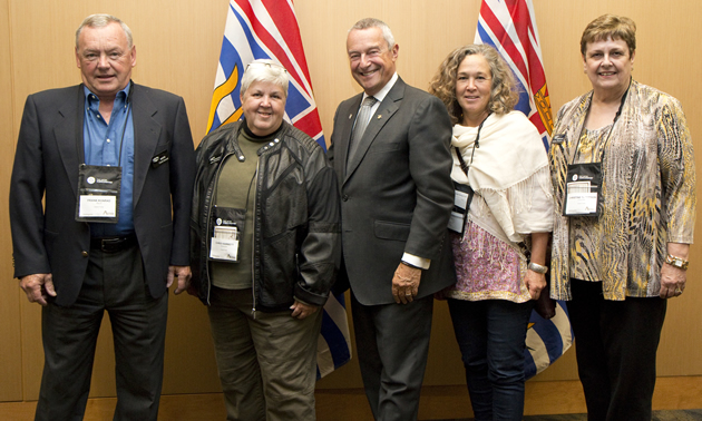 Frank Konrad (L) joined other B.C. mayors as well as provincial ministers at the Union of British Columbia Municipalities annual convention.