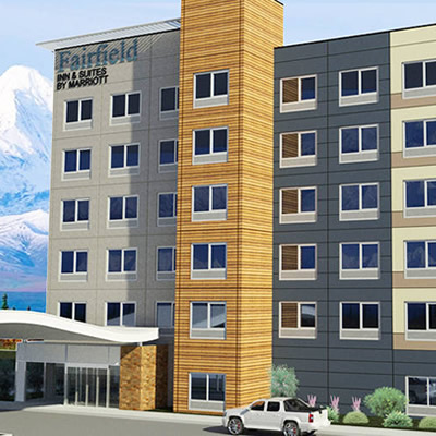 Artist's rendition of Fairfield Inn and Suites.