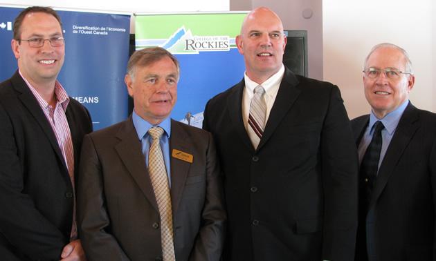 David Walls (L), president, College of the Rockies, and David Wilks, MP Kootenay Columbia