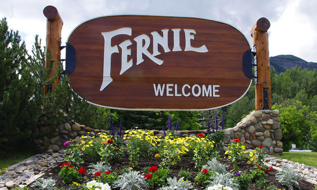 Welcome to Fernie sign.