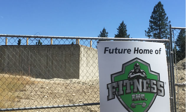 Construction site, home of the new Fitness Inc. building.