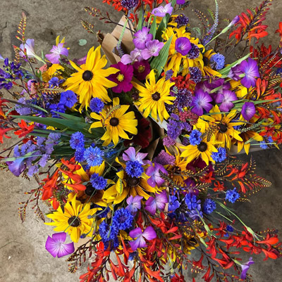 Colourful bouquet of flowers.