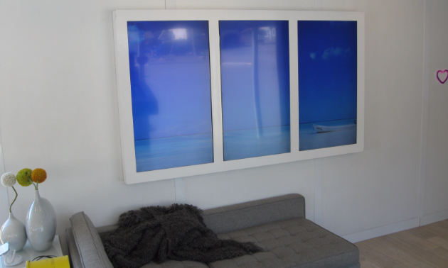 Even if the weather outside is gloomy, you can change your wall monitors to a serene landscape and lift your mood