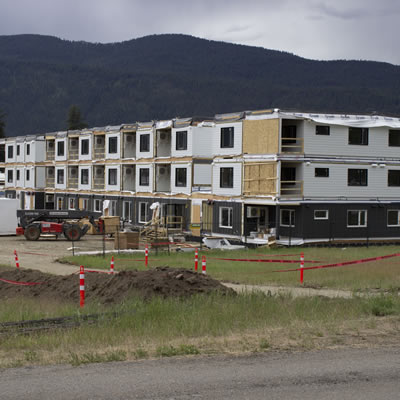 Part of a 52-unit affordable  housing project being constructed by B.C. Housing in Grand Forks, B.C