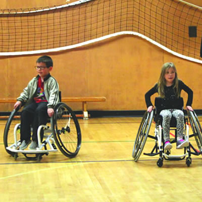 Students at Gordon Terrace Elementary school in Cranbrook participate in lunch-hour Inclusive Physical Literacy activities.