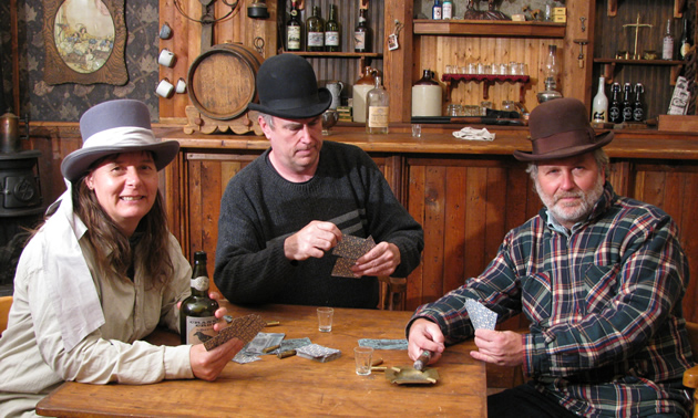 (L to R) Laura Stoddart, Dan Stoddart and Mike Guarnery at Great West Emporium, Kimberley, B.C.