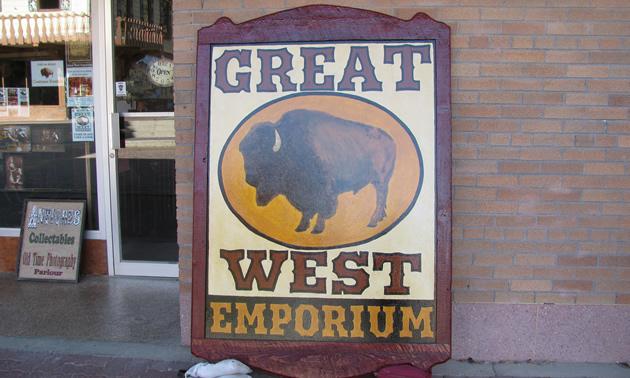 Great West Emporium sign