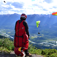 Paragliders and hang gliders take to the air near Golden, B.C.