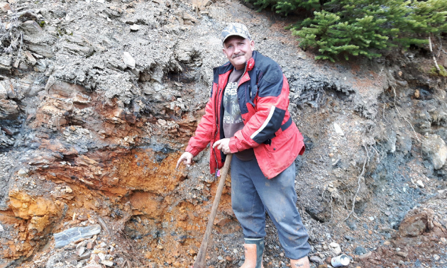 """Darrel Davis has discovered a """"staggering"""" gold deposit near Trout Lake, B.C."""