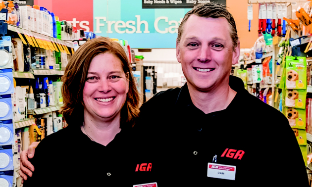 Cam Dawes and his wife, Erin, are co-owners of IGA in Golden and each has 25 years of experience in retail.