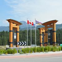 Traffic circle in Golden, B.C.