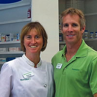 Michelle and Andy Gray in their new pharmacy, Gray's Compounding Pharmacy Remedy's RX