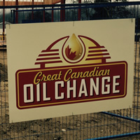 Great canadian oil change under construction in Castlegar
