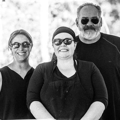 Tylene Turner, Jaime Gordon and Duane Funk are the powers behind Green Door Catering in Kimberley, B.C.