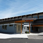 The front of the new Elkford Community Conference Centre