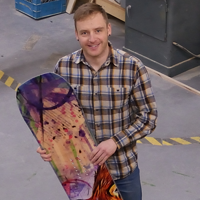 Greg Fortier is the founder and operator of Trapper Snowboards in Revelstoke.