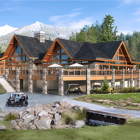 Clubhouse at Greywolf Golf Course, Panorama Mountain Village, B.C.