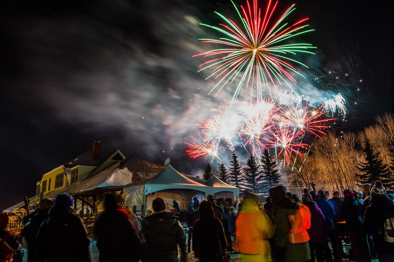 Fireworks at Griz Days