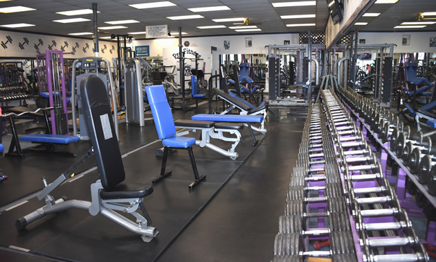 Pro-Fitness has the largest number free weights of any other gym in Cranbrook, B.C.