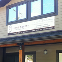 Sparwood's Home Ability Reno Ltd. in new building