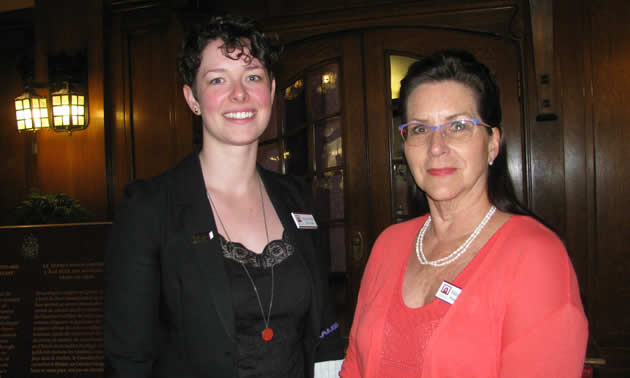 Honor Neve, chief curator, and Valerie Bourne, business manager, Cranbrook History Centre