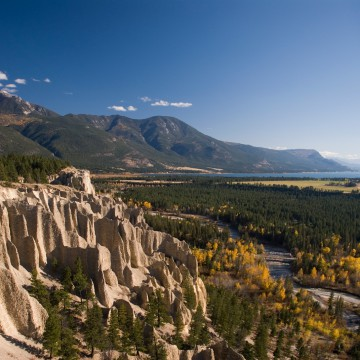 View of the Fairmont Hoodoos.