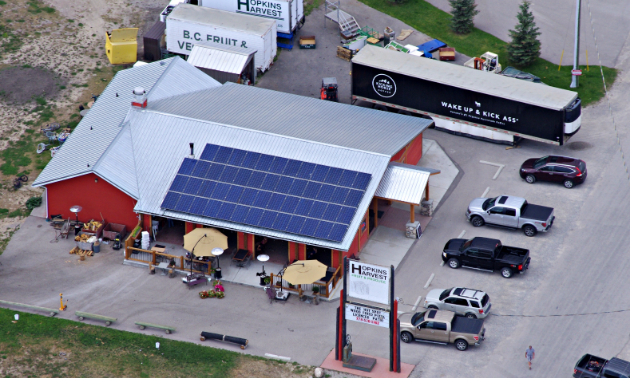 Aerial view of Hopkins Harvest