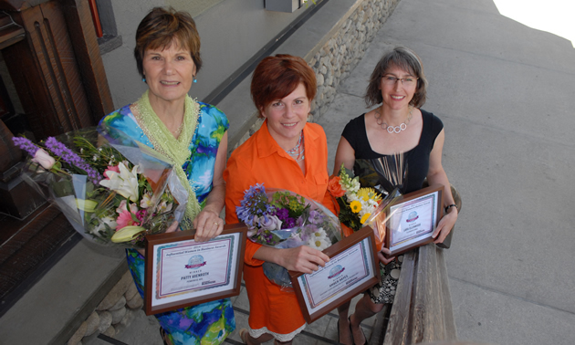 Patty Axenroth, Amber Hayes and Lara Ellenwood were the 2014 winners of the Influential Women in Business awards
