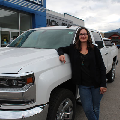 Julie MacPhee, Controller, at the Jack Carter Elk Valley dealership.