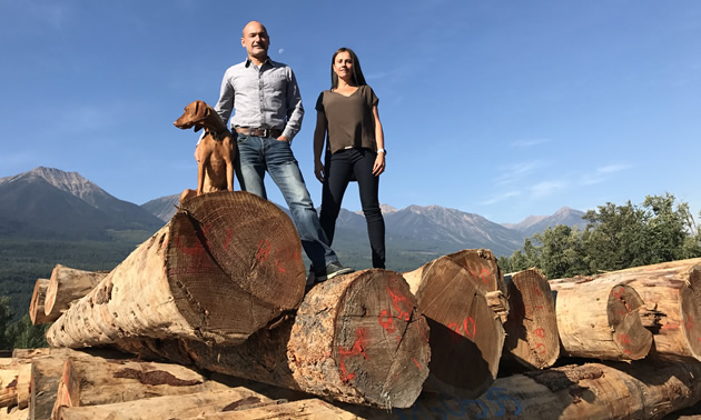Jeff and Stephanie Bowes took full ownership of Canadian Timberframes Ltd. in Golden, B.C., on January 1, 2017.