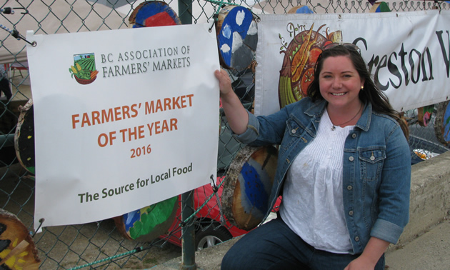 Jen Comer has been growing the impact of the Creston Valley Farmers Market since she became its manager in 2010.