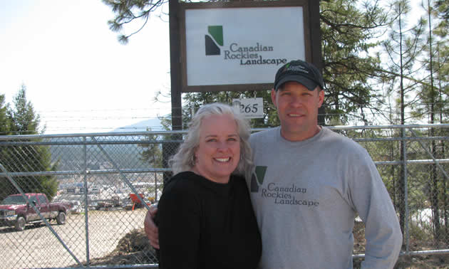 Jennifer and Darren Krotz are the owner-operators of Canadian Rockies Landscape—winner of a 2018 Business Excellence Award—in Cranbrook.