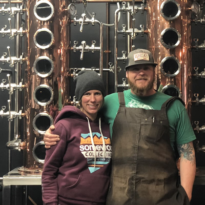 Jennifer and Josh McLafferty are the owners of Monashee Spirits Craft Distillery, a certified organic distillery in Revelstoke, B.C.