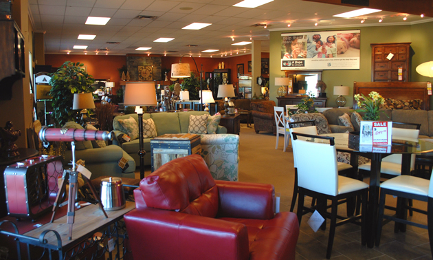 The beautiful showroom at Ashley Furniture Homestore in Cranbrook, B.C.