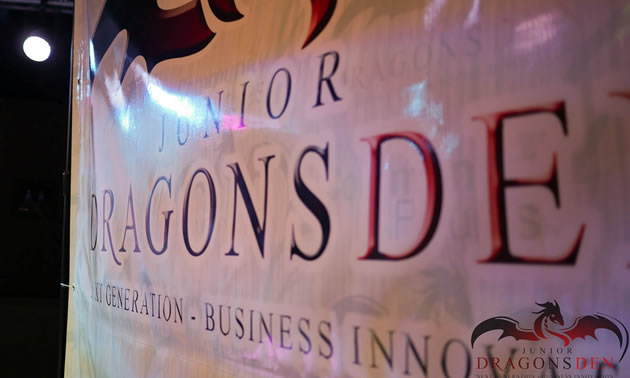 Photo of Dragons Den banner.