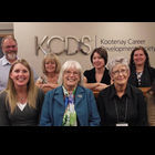 Kootenay Career Development Society – Castlegar Employment Services Centre Staff. From Left to right, back row: Bob Wright, Susan Deadmarsh, Tara Thom, Jessica Lunn. Front Row: Joanna Swanson-Kutasewich, Jan Wright, Leni Normington, Katt Britton.