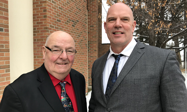 Kootenay East Regional Hospital District Chair Dean McKerracher (left) has been re-elected Chair for this fifth term, while David Wilks (right) has been elected as Vice Chair.