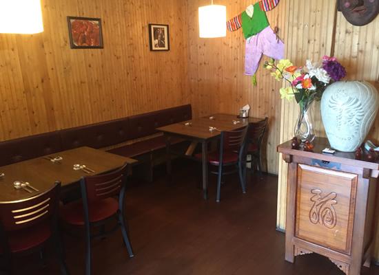Inside of the Kang Nam restaurant.