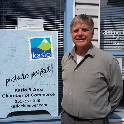 John Addison is the president of the board of the Kaslo & Area Chamber of Commerce.