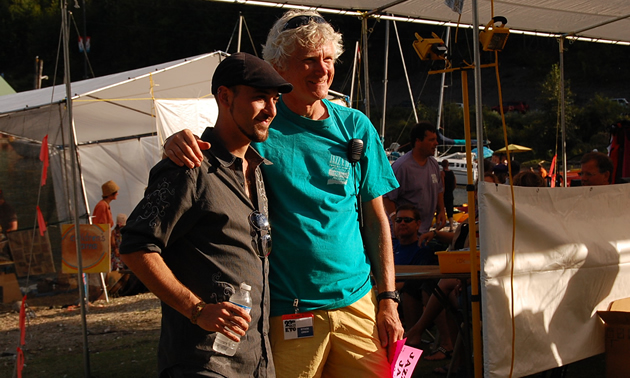 Camillo Nu and Jim Holland at Kaslo Jazz Etc. Summer Music Festival in 2011.