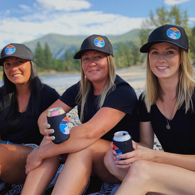 (From L to R), Hannah Baker, Stacey Smith and Meagan Savaia are the faces behind Kettle Down, a niche clothing brand that celebrates the Kootenays.