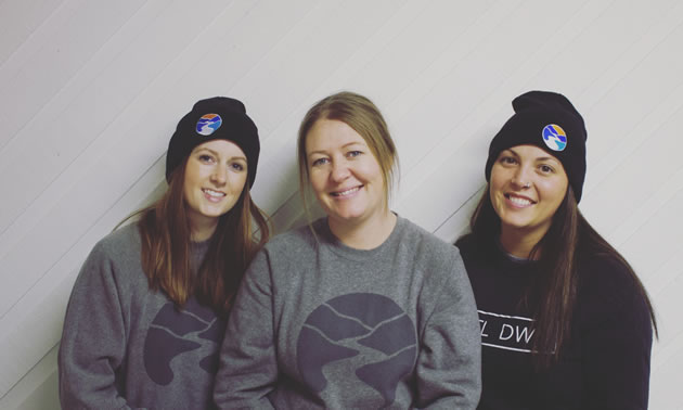The faces behind Kettle Down, a niche clothing line in Grand Forks, B.C. From left to right: Meagan Savaia, Stacey Smith & Hannah Baker.