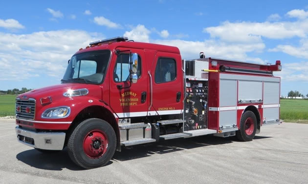 The Midway/Kettle Valley fire truck.